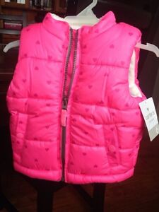 Adorable Hot Pink Baby Vest, Carter's 6m, new with tags