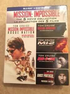 Mission impossible 1-2-3-4-5 bluray + digital copy new seal
