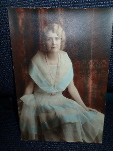 Vintage unframed coloured photograph