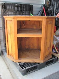 Solid Wood Corner unit, T.V. entertainment stand ~ Rustic!