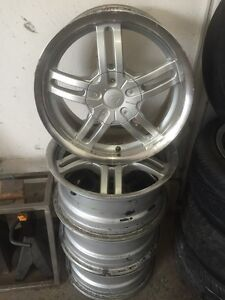 15 inch Chrome mag dish rims fast 4x114.3 and five bolt