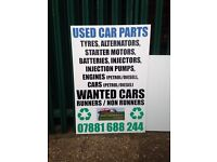 Cars wanted for parts good prices paid for cars what you might have that's too good to scrap