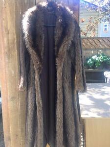 Full Length Raccoon Fur Coat