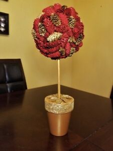 ON SALE!!!  Christmas mini pine cone topiary