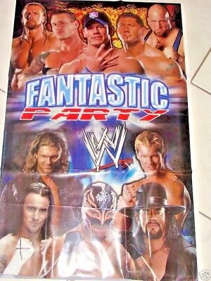 WWE WRESTLING BANNER PARTY SUPPLIES JOHN CENA, BAUTISTA - John Cena Party