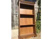 Oak old charm tall bookcases