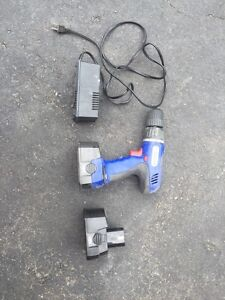 Drill gun battery and charger