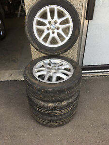 Toyota Camry 5X114.3 rims and 205/60/16