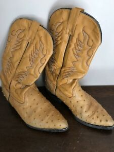 Men's Ostrich Boots Size 8.5 (New Low Price)