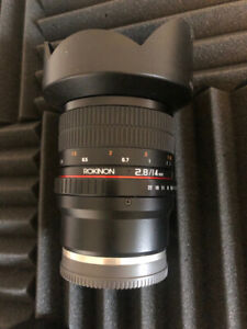 Sony / Rokinon 14mm super wide angle lens F2.8