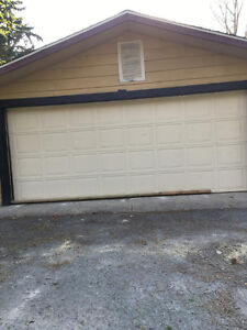 16 foot insulated garage door with hardware and remote opener