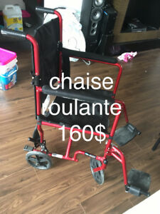 chaise roulante excellente condition payer 380$ vend 160$