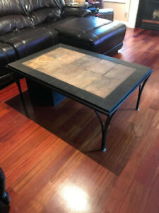 Matching Stone Coffee and End Tables