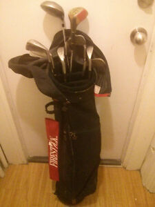Bag and clubs