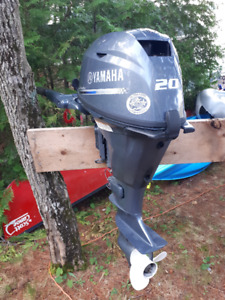 20 HP Yamaha Outboard Less Than One Season's Use