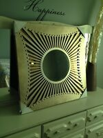 """Large Solid Wood Gold Mirror Decor - 32"""" x 32"""" - New!"""