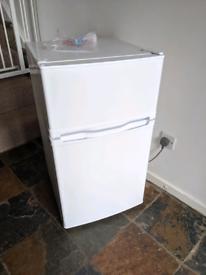 Currys Essentials under counter Fridge Freezer (White) with paperwork