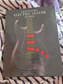 Legendary electric guitar song leather book in box