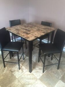 """38"""" x 38"""" table and 4 chairs"""