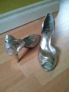 Prom shoes / Silver Heels Cambridge Kitchener Area image 4