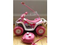 Baby born quad bike with hand held remote