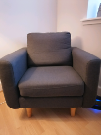 Grey armchair for sale.