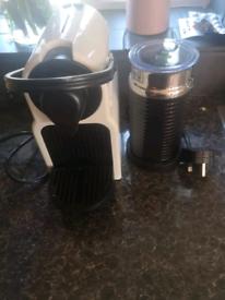 Nespresso machine and milk warmer
