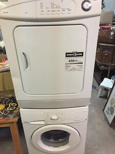 Apt size front load stacking washer and dryer