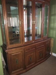Solid Oak Hutch and table