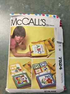 Alphabet Learning Book  McCall's # 7524