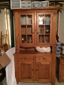 Solid Pine Dining Hutch