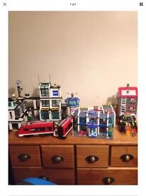 Lego city, technic, mini figures and others job lot over 35kg