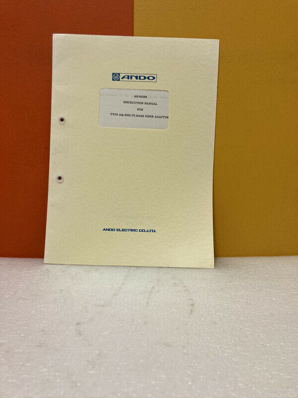 Ando AS-61539 Type AQ-9303 Bare Fiber Adapter Instruction Manual