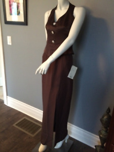 NEW UNWORN Brown Halter Formal dress Size 8 with tags
