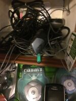 Blackberry. Several car adapters. New holders. Lots more