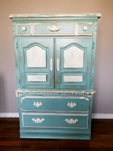 tall dresser refinished