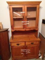 Tall Wood/Glass Buffet Cabinet - Free delivery