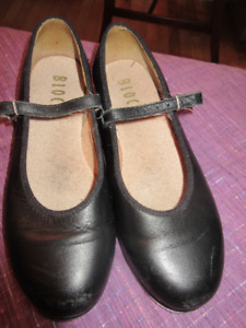 Black leather Mary Jane Bloch Tap Shoes - Size 5  1/2  Very nice