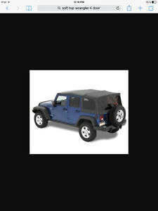 Soft top for 4 door Jeep Wrangler