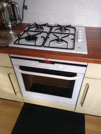 Kitchen Appliances. Electric fan oven and gas hob with extractor hood