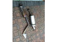 Peugeot 306 xsi gti 6 middle and rear stainless steel exhaust system genuine part