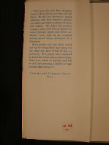rare 1959 Journey Among Cannibals: The Story of Mary Kingsley Belleville Belleville Area image 4