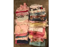 Large baby girl bundle 0-9 months (50 items)