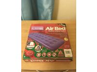 Unused Single Airbed with pump & bedding