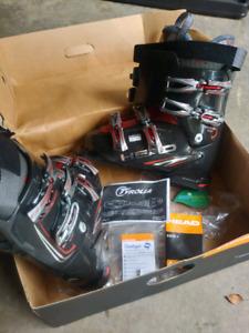 Ski Gear Kit Boots + Poles + Skis