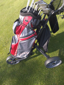 Full golf set with trolley and watch