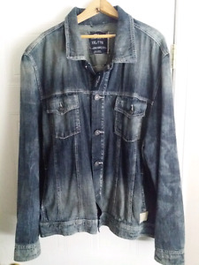 BNWT Men's Silver Jeans Denim Jacket XXL