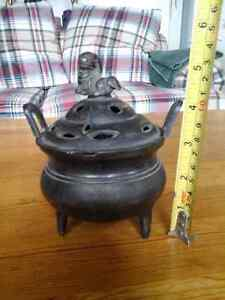 chinese bronze foo dog lion beast statue Incense Burner