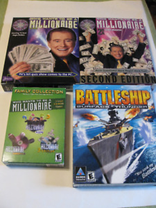 PC Games - Who Wants to be a Millionaire 1,2,3, Battleship