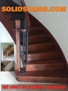 solid oak stairs custom color for you from $998.00